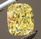 SOLD...Loose Yellow Diamond: .61ct Fancy Intense Yellow I1 Cushion Cut Diamond GIA R6572
