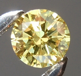 SOLD...Loose Yellow Diamond: .16ct Fancy Intense Yellow SI2 Round Brilliant Diamond GIA R6573