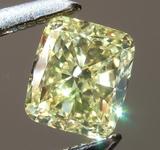 Loose Yellow Diamond: .49ct Fancy Yellow VS1 Cushion Modified Brilliant Diamond GIA R6574