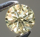 Loose Yellow Diamond: .26ct Fancy Light Yellow VS2 Round Brilliant Diamond GIA R6575