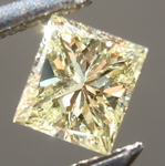 Loose Yellow Diamond: .28ct Fancy Light Yellow SI2 Princess Cut Diamond GIA R6584