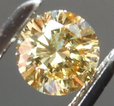 Loose Yellow Diamond: .32ct Fancy Brownish Yellow I1 Round Brilliant Diamond GIA R6585