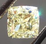 Loose Yellow Diamond: .49ct Fancy Yellow VVS2 Radiant Cut Diamond GIA R6587