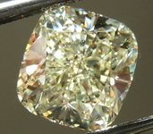 SOLD....Loose Diamond: 2.50ct W-X, Light Yellow Cushion Diamond MAKE AND MODEL R6567