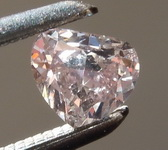 SOLD.......Loose Diamond: .25ct Fancy Brownish Pink Diamond  Cleavage-less Heart GIA R6606