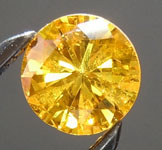 SOLD........Loose Diamond: .26ct Fancy Vivid Orangy Yellow I1 Round Brilliant Diamond GIA R6609
