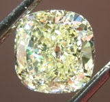 SOLD.....Loose Yellow Diamond: 1.06ct Fancy Light Yellow VVS1 Cushion Modified Brilliant Diamond GIA R6623
