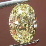 Loose Yellow Diamond: .96ct Fancy Light Yellow SI1 Oval Diamond GIA R6626