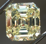 Loose Yellow Diamond: 6.24ct Fancy Intense Yellow VS1 Emerald Cut Diamond GIA R6651