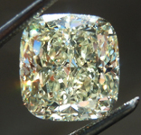 SOLD...Loose Yellow Diamond: 4.40ct Y-Z VVS1 Cushion Cut Diamond GIA R6654