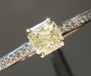 Yellow Diamond Ring: .44ct Fancy Yellow VS1 Radiant Cut Diamond Ring GIA R6582