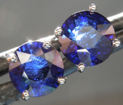 SOLD...Sapphire Earrings: 2.00cts Blue Round Brilliant Sapphire Earrings R6653