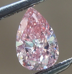 SOLD....Loose Pink Diamond: .27ct Fancy Intense Pink I1 Pear Shape Diamond GIA R6662