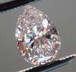 Loose Pink Diamond: .50ct Faint Pink VS1 Pear Brilliant Diamond GIA R6674