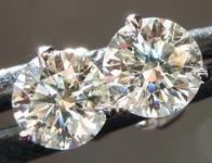 SOLD.....1.20ctw K SI2 Round Brilliant Diamond Earrings R6664