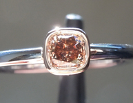 SOLD......Diamond Ring: .32ct Fancy Deep Brown SI1 Cushion Cut Diamond Ring R6670