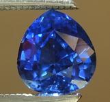 0.87ct Blue Pear Shape Sapphire R6689
