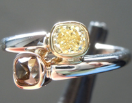 0.71ctw Natural Brown and Yellow Diamond Ring R6675