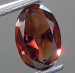 Loose Diamond: 1.01ct Fancy Deep Orange-Brown SI2 Oval Diamond GIA R6715