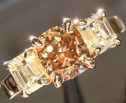 Brown Diamond Ring: 1.21ct Fancy Dark Yellowish Brown VS1 Cushion Modified Brilliant Diamond Ring GIA R6617