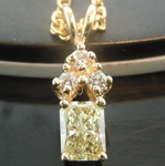 SOLD...Diamond Pendant: .35ct Y-Z SI1 Radiant Cut Diamond Pendant R6646