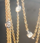 SOLD...Diamond Necklace: 1.08ctw D-E VS Old Mine Brilliant Diamond Necklace R6565