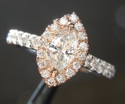 0.38ct G SI1 Marquise Diamond Ring R6705