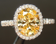 1.49ct Fancy Intense Yellow VVS1 Oval Diamond Ring GIA R6771