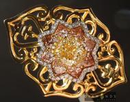 Diamond Ring: 1.23ct Fancy Yellow VS2 Cushion Cut Diamond Ring GIA R6770