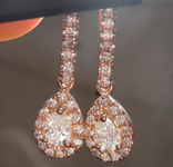 SOLD...Diamond Earrings: .33cts E-F VS Pear Shape Diamond Halo Earrings R6735