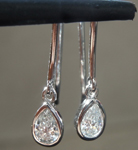 SOLD....Colorless Diamond Earrings: .35ctw E-F Colored Pear Shape Diamond Earrings R6734