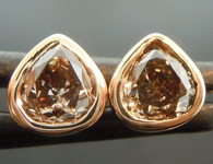 SOLD...Diamond Earrings: .75ctw Fancy Yellowish Brown SI1 Pear Shape Diamond Earrings R6722