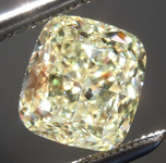 SOLD...Loose Yellow Diamond: 1.61ct W-X VVS1 Cushion Cut Diamond GIA R6786