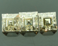 SOLD....2.68ctw M VS1-SI1 Carre Cut Three Diamond Parcel R6713