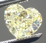 SOLD.......Loose Yellow Diamond: .62ct Fancy Yellow Internally Flawless Heart Shape Diamond GIA R6803