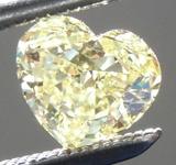 SOLD.......Loose Yellow Diamond: .62ct Fancy Yellow Internally Flawless Heart Shape Diamond GIA R6803