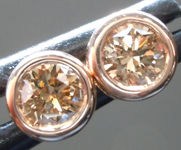 SOLD......Brown Diamond Earrings: .47ctw Fancy Brown SI Round Brilliant Diamond Stud Earrings R6795