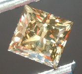 Loose Brown Diamond: .48ct Fancy Dark Yellowish Brown VS1 Princess Cut Diamond GIA R6837