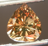 0.98ct Dark Orangy Brown SI1 Heart Shape Diamond R6841