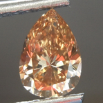 0.90ct Brown-Orange SI1 Pear Diamond R6844