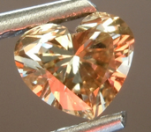 SOLD....Loose Brown Diamond: .57ct Fancy Yellowish Brown SI2 Heart Shape Diamond GIA R6851