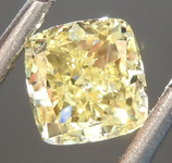 0.65ct Fancy Yellow SI2 Cushion Cut Diamond R6862