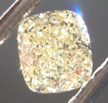 SOLD....0.38ct Fancy Light Yellow IF Cushion Cut Diamond R6860
