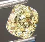 0.64ct Fancy Yellow VS2 Cushion Cut Diamond R6864