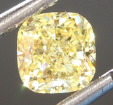 SOLD.....63ct Intense Yellow SI2 Cushion Cut Diamond R6863