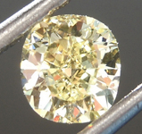 0.54ct Fancy Yellow VVS1 Cushion Cut Diamond R6890