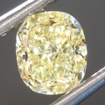 Loose Yellow Diamond: .63ct Fancy Yellow VS2 Cushion Modified Brilliant Diamond GIA R6869