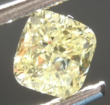 Loose Yellow Diamond: .69ct Fancy Yellow VS2 Cushion Modified Brilliant Diamond GIA R6870