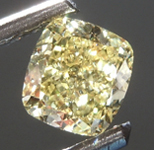 SOLD.........Loose Yellow Diamond: .51ct Fancy Intense Yellow Internally Flawless Cushion Modified Brilliant Diamond GIA R6865