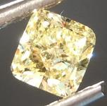 Loose Yellow Diamond: .51ct Fancy Yellow VS1 Cushion Modified Brilliant Diamond GIA R6889
